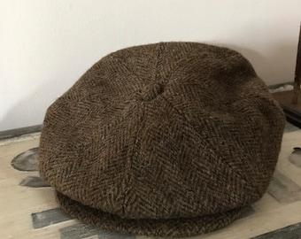 443ba7ea48a4f Vintage Harris Tweed Cap Scottish Tweed Made in USA Large