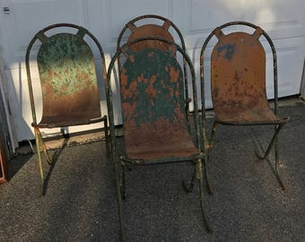 French Garden Chairs Etsy