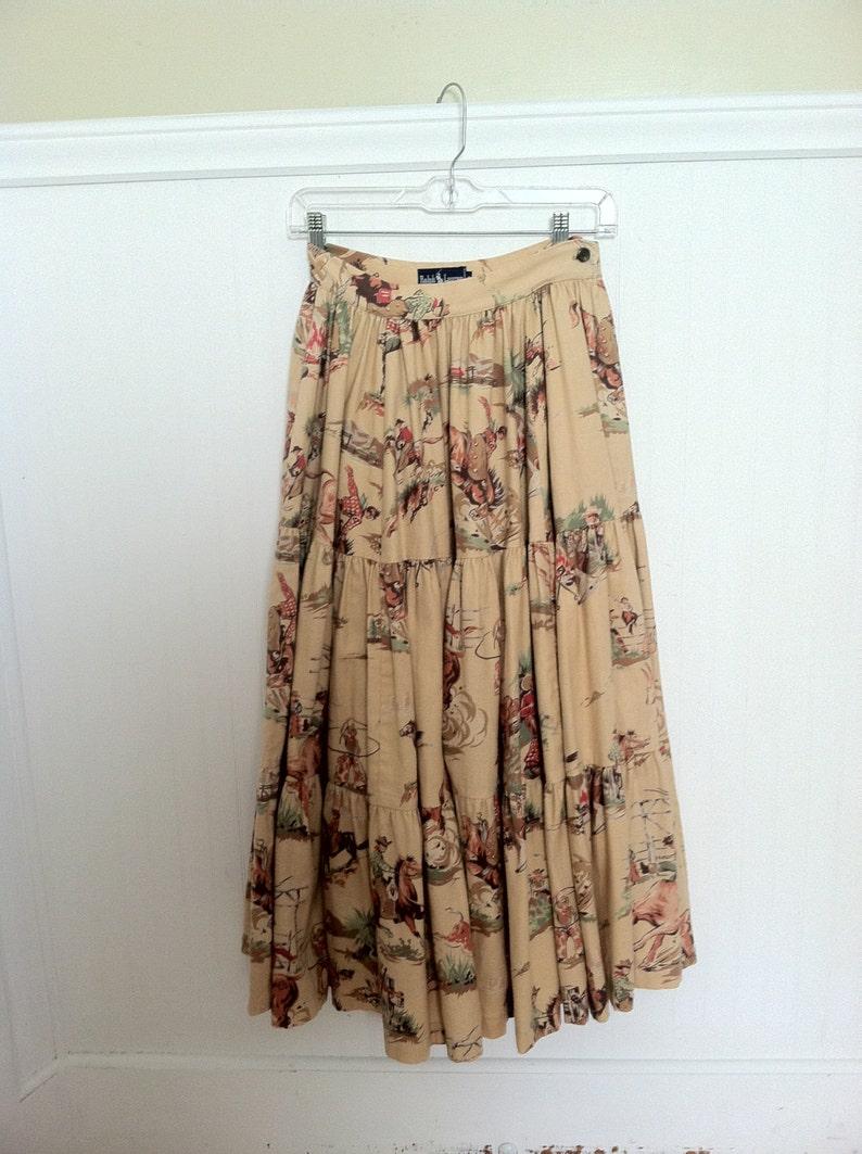 3eb037201f0a8 RALPH LAUREN Skirt COWBOY Western Vintage Early True Vintage