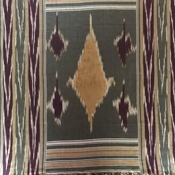 Ralph Lauren Scarf Silk Scarf Ikat Fringed Native