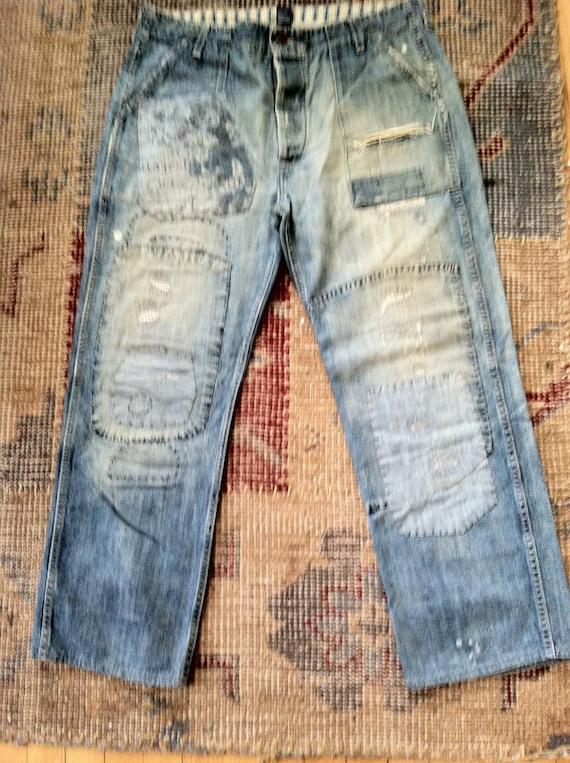 Ralph Lauren Denim Work Pants Vintage Patchwork Pa