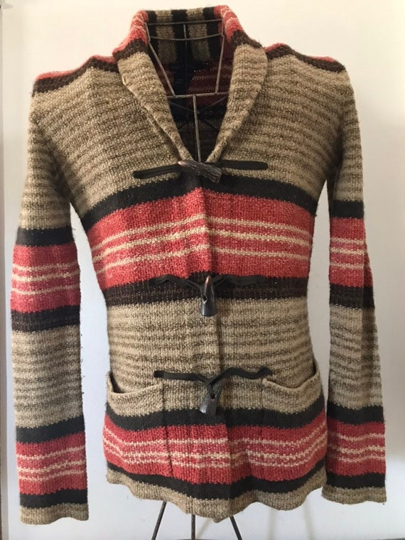 Vintage Ralph Lauren Sweater Hand Knit Cardigan To