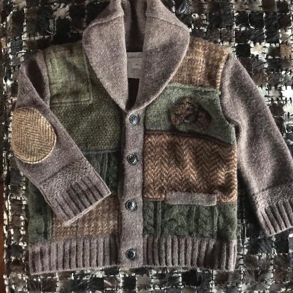 Ralph Lauren Patchwork Sweater Baby Sweater Shawl