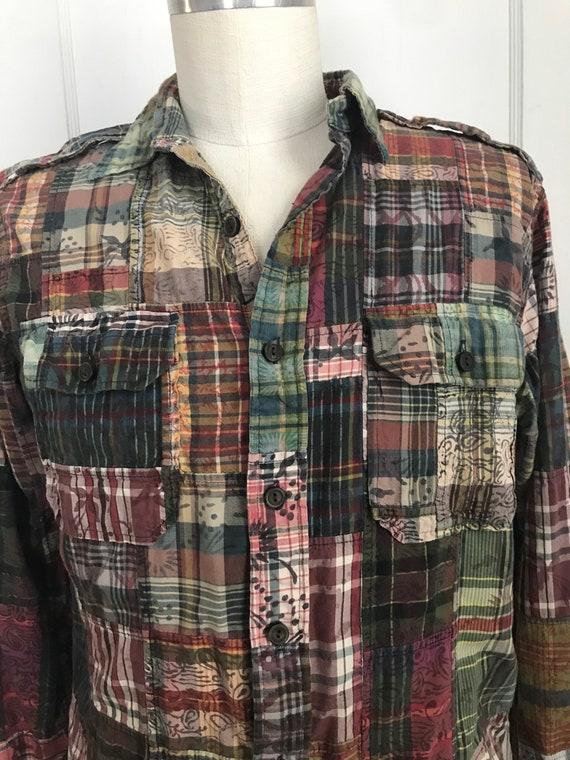 Vintage Ralph Lauren Shirt Patchwork Madras Batik