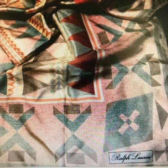 Ralph Lauren Scarf Southwestern Silk Scarf Native