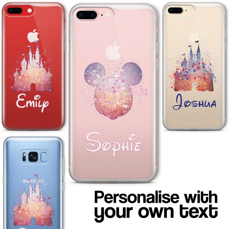 Cartoon Movie PERSONALISED CLEAR TPU Phone Cover Case for image 0