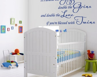 It's Double The Giggles Wall Decal Twins Sticker