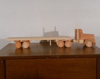Wooden Truck and Flat Bed Trailer