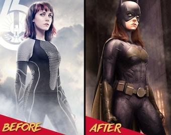 Cosplay Costume Women, Digital Superhero Prints, Superhero Illustration, Custom Portrait, Wall Print, Wall Art, Personalised Portrait, Art