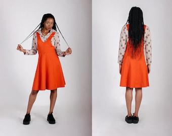 15cece95a2a 1970s Dress Vintage Dress Orange Dress 70s Dress Vintage 1970s Dress True Vintage  70s