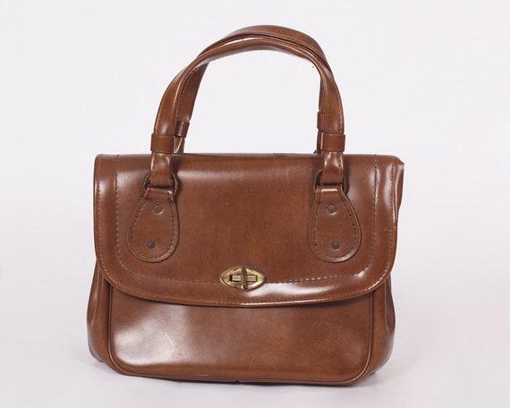 VINTAGE BROWN BRIEFCASE, 70s Briefcase, Vintage Br