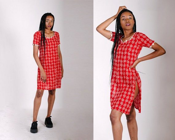 African Dress Red African Dress Red Tribal Dress A