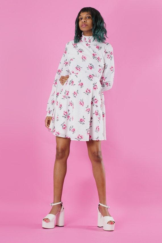 Y2K FLORAL DRESS (S), Vintage 90's Y2K Long Sleev… - image 2