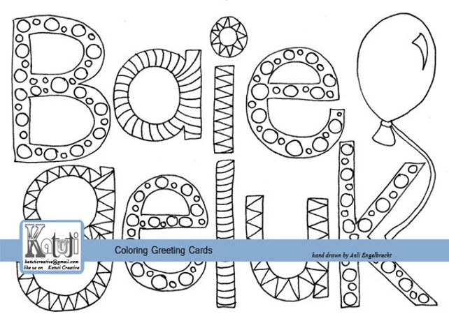 Coloring greeting card baie geluk afrikaans happy birthday etsy image 0 m4hsunfo