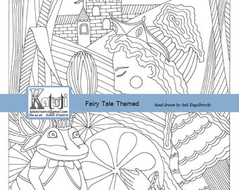 Adult Coloring Page The Princess And Frog