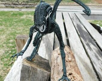 Alien wire sculpture