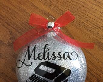 Court reporter Christmas ornament.  Custom made.