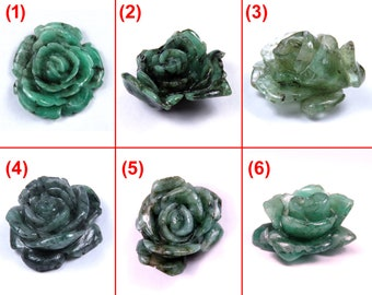 Natural Emerald Carved Rose Flowers acutal looking Handcrafted Selected Nice flowers