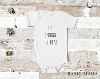 73ef44011 The Snuggle is Real Onesie, Funny Onesie, Custom Onesie