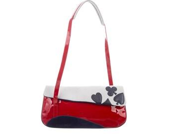 d883e43ee MIU MIU Patent Poker Shoulder Bag
