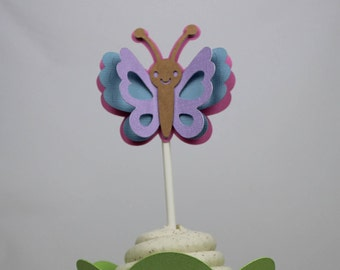 3D Butterfly Cupcake Topper - 12