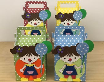 Girl Clown Favor Box
