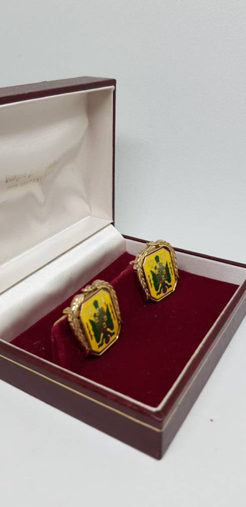 Swank cufflinks shield cuff links collectable vintage cufflinks gift for him birthday gift fathers day