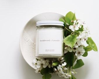 Sandalwood + Lavender scented candle | Soy candle | Candles, Gift Idea Home Decor