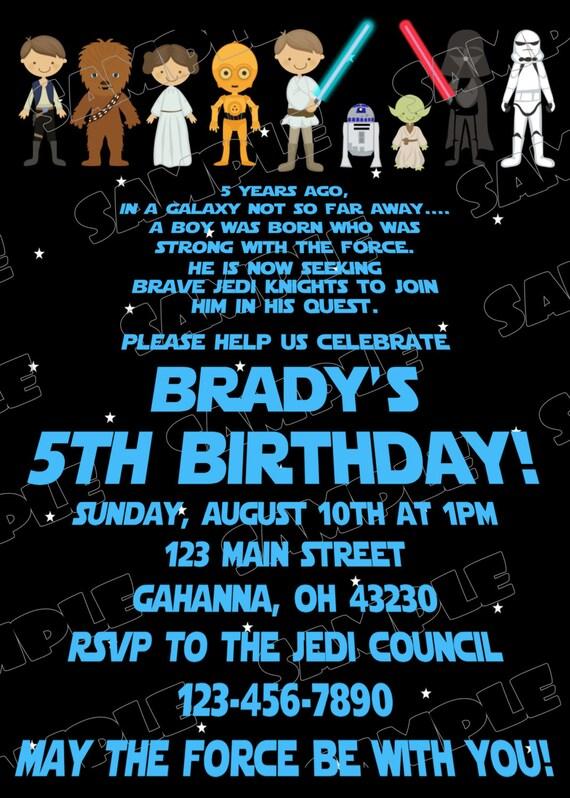 Starwars Birthday Scroll Invite Party Starwars Party Star Wars Party