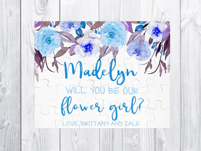 Flower Girl Proposal puzzle gift Flower Girl Proposal Will You Be My Flower Girl Proposal Gift Proposal Puzzle Flower Girl 30 piece puzzle