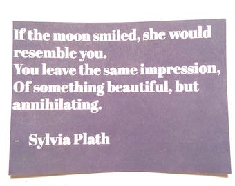 Sylvia Plath Quote Sticker