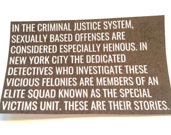 Law and Order SVU Monologue Sticker