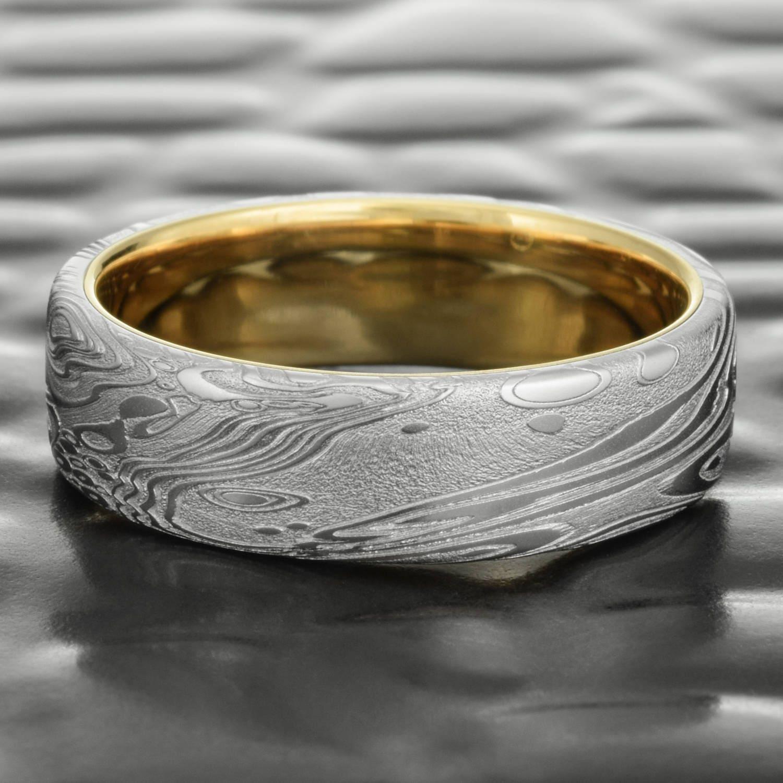Damascus Steel Womens Ring Wedding Band Genuine ... |Damascus Steel Rings For Women