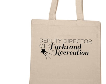 Parks and Recreation Cotton Tote Bag Pit Beautification