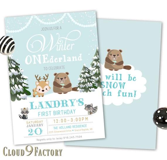 winter onederland invitation boy winter wonderland first etsy
