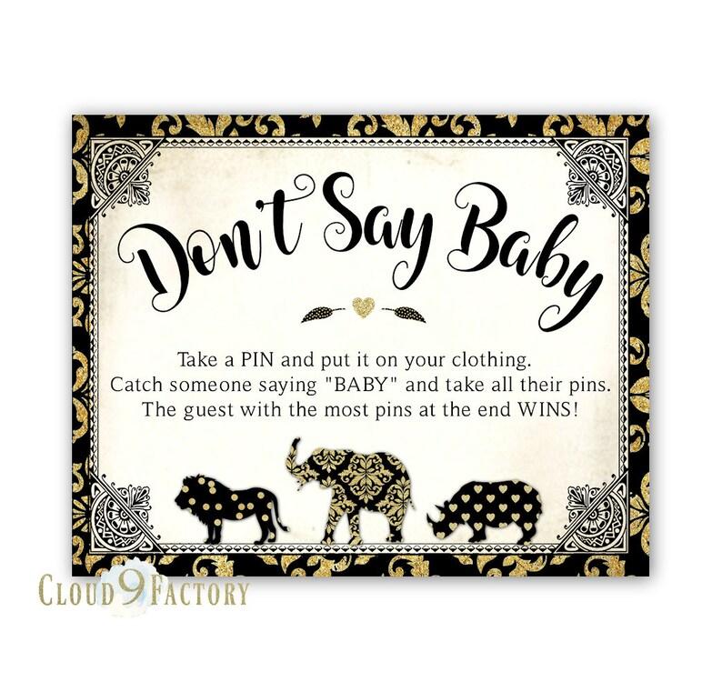 72f76b94fec07 Printable Safari Don t Say Baby Game Safari Baby Shower