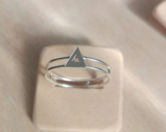 Triangle Siler handmade ring