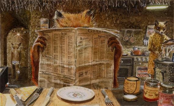 Fantastic Mr Fox Kitchen Scene Fine Art Giclee Print Etsy