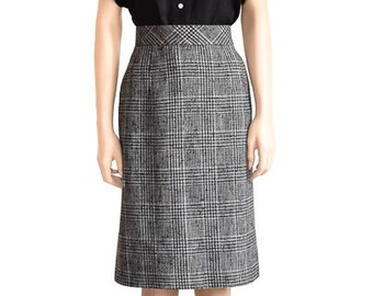 3ed528a35e Vintage 1980s Skirt 80s Talbots Glen Plaid Pencil Skirt