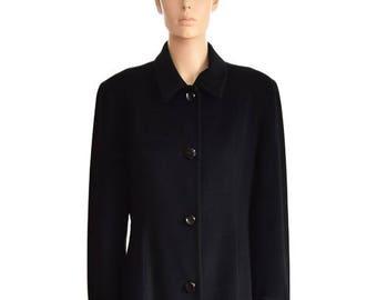 6af284881b9 Vintage Coat Ann Taylor Loft Black Plaid Coat Women s