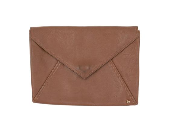 Vintage 1970s Purse 70s Halston Brown Envelope Clu