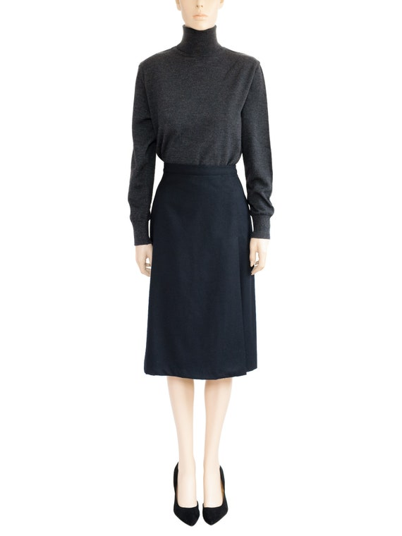Women's Skirt, Hugo Buscati Collection Black Wool