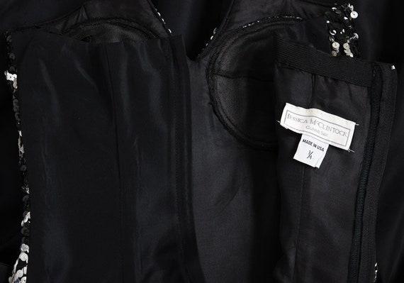 Jessica McClintock Sequin Black Bubble Dress, Vin… - image 7