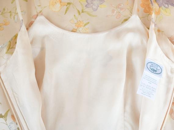 Laura Ashley Pale Yellow Silk Floral Dress, Vinta… - image 4