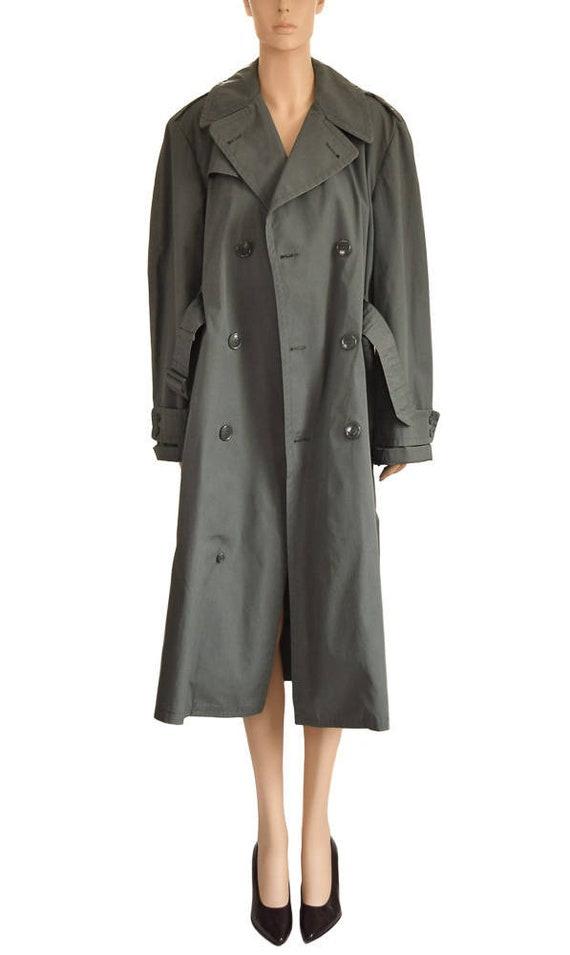 Vintage 1980s Coat, 80s  Military Olive Green Tren