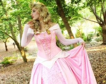 Aurora Sleeping Beauty Custom Made Cosplay Costume Gown