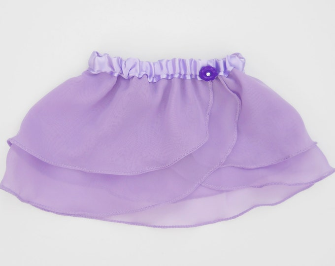 Girls Lavender Ballet Skirt - Dancewear - Purple Skirt - Ice Skating - Toddlers Ballet Skirt - Childs Ballet Skirt - Faux Wrap Skirt - Tutu