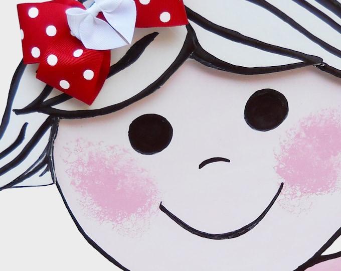 Merry Christmas Red Polka Dot Hair Bow - Holiday Hair Bow - Girls Hair Bow - Toddler Hair Bow - Hair Accessory - Stocking Stuffer - Gift