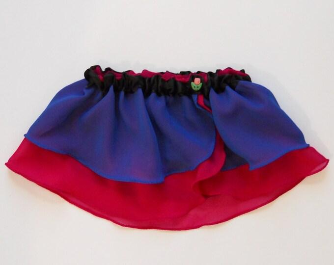 Girls Snow Princess Ballet Skirt - Ice Queen - Girls Ballet Skirt - Childs Ballet Skirt - Toddler Ballet Skirt - Faux Wrap Skirt - Tutu