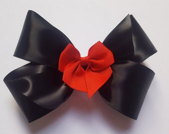 Minnie Dot Hair Bow - Girls Hair Bow - Toddler Hairbow - Satin Ribbon HairBow - Boutique Hair Bow - Hair Accessory - Hair Clip